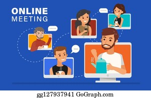 Online Meeting Clip Art Royalty Free Gograph