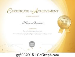 vector art certificate of achievement template in modern theme