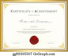 Certificate Of Achievement Template | Eps Vector Certificate Template For Achievement Appreciation