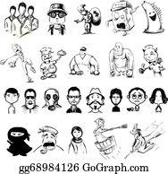 Royalty Free Female Ninja Clip Art - GoGraph