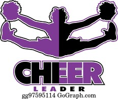 Cheerleader Clip Art - Royalty Free - GoGraph