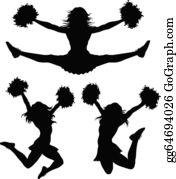 Cheerleader clipart   Etsy