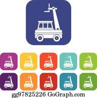 Cherry Picker 2 Svg Bucket Truck Svg Aerial Work Platform | Etsy