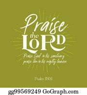 Praise The Lord Clip Art - Royalty Free - GoGraph