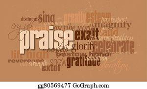 Praise Clip Art - Royalty Free - GoGraph