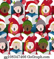 Christmas Carolers Clip Art