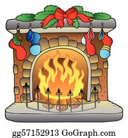 Christmas Fireplace Scene Clipart.Christmas Fireplace Clip Art Royalty Free Gograph