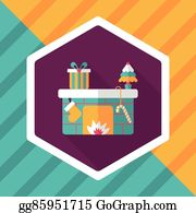 Christmas Fireplace Cartoon - Royalty Free - GoGraph