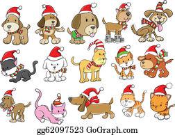 Christmas Dog Clip Art Royalty Free Gograph