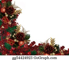 Stock Illustration Christmas Garland Border Clipart