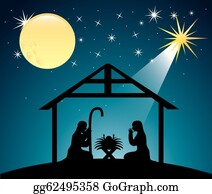 Nativity Scene Clip Art Royalty Free Gograph