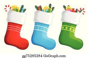 Christmas Stockings Clip Art Royalty Free Gograph