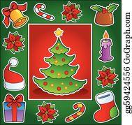 Christmas Theme Clip Art Royalty Free Gograph