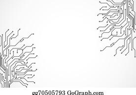 Clip Art Vector - Circuit board background. Stock EPS gg64783257 ...