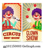 Circus Clown Vertical Banners Template Vector Amazing Show Poster Amusement Park Party