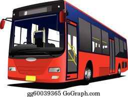 Vector Art Red City Bus Coach Vector Illust Eps Clipart Gg58199541 Gograph