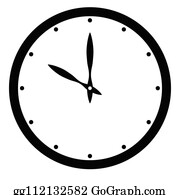 graphic relating to Printable Clock Face With Minutes titled Blank Clock Facial area And Fingers Clip Artwork - Royalty No cost - GoGraph