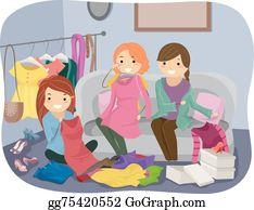 Clothes Swap Clip Art - Royalty Free - GoGraph