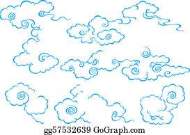 Japanese Wave Pattern Wallpaper Stock Illustrations
