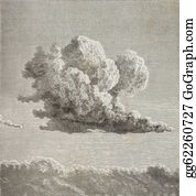 Cloud Vintage Engraving Stock Illustrations - Royalty Free