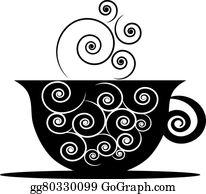 Smoke coffee. Clip art royalty free