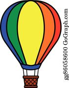 Hot Air Balloon Png Clip Art Image - Balloons In Air Clipart, Transparent  Png , Transparent Png Image - PNGitem