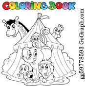 Vector Art  Coloring book with forest animals 3 Clipart Drawing