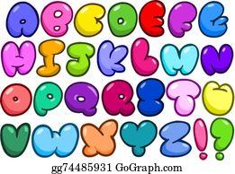 Fat bubble alphabet · Comic bubble alphabet
