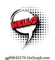 Hello Bubble Thought Clip Art - Royalty Free - GoGraph