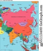 Map Asia Clip Art - Royalty Free - GoGraph