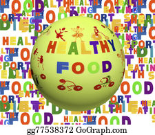stock illustration health sports and nutrition list as abstract