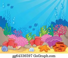 Coral Reef Clip Art - Royalty Free - GoGraph