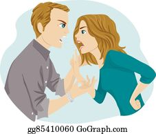 Abusive Relationship Clip Art Royalty Free Gograph