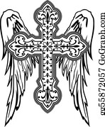 Christian Cross And Wings Clip Art Royalty Free Gograph
