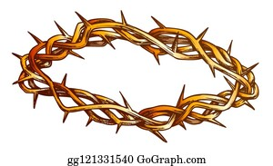 Crown Of Thorns Cartoon Royalty Free Gograph The drawing may be purchased as wall art, home decor, apparel, phone cases, greeting cards, and more. crown of thorns cartoon royalty free