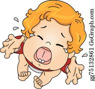 Illustration Featuring A Baby Crying Out Loud Royalty Free Cliparts,  Vectors, And Stock Illustration. Image 32986128.