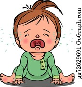 Baby Crying Clip Art - Royalty Free - GoGraph