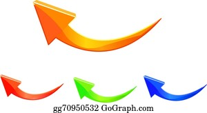 Curved Arrow Clip Art - Royalty Free - GoGraph