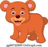 Bear Cub Clip Art - Royalty Free - GoGraph