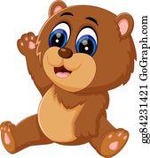 Bear baby. Clip art royalty free