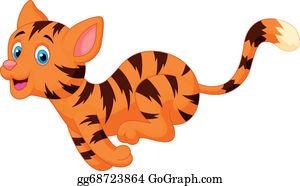 Running Cat Clip Art - Royalty Free - GoGraph (300 x 186 Pixel)