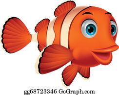 Fish kawaii. Cute clip art royalty