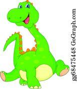Cartoon Style Green Flying Dinosaur Jpg