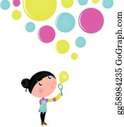 Blowing Bubbles Clip Art