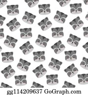 Raccoon Face Clip Art - Royalty Free - GoGraph