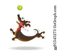 Dog Playing Clip Art - Royalty Free - GoGraph