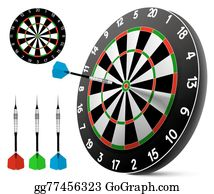 graphic regarding Printable Dart Board called Dart Clip Artwork - Royalty Absolutely free - GoGraph