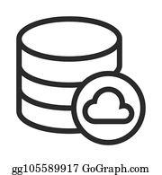Cloud Database Clip Art - Royalty Free - GoGraph