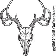 Deer Head Clipart Black And White - Deer Head - Png Download (#253909) -  PinClipart