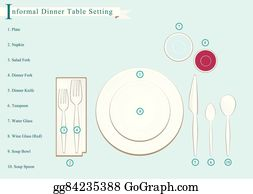 formal dinner clip art royalty free gograph. Black Bedroom Furniture Sets. Home Design Ideas